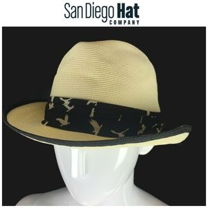 NWT San Diego Hat Company Packable Fedora New